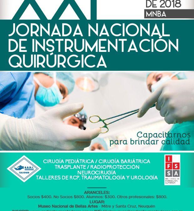 XXI JORNADA NACIONAL DE INSTRUMENTACIÓN QUIRÚRGICA
