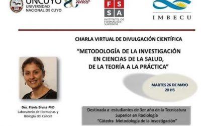CHARLA VIRTUAL DE DIVULGACIÓN CIENTÍFICA