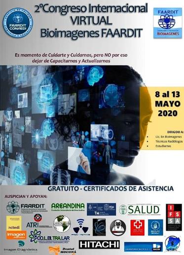 2° CONGRESO INTERNACIONAL VIRTUAL BIOIMAGENES ORGANIZADO POR FAARDIT.